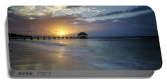 Beach Sunrise Portable Battery Charger by Dennis Hedberg