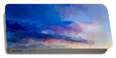Beach Sunset Portable Battery Charger by Anthony Fishburne