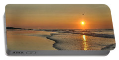 Topsail Nc Beach Sunrise Portable Battery Charger