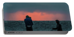 Beach Sunset Portable Battery Charger