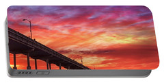 Beach Sunset Ocean Wall Art San Diego Artwork Portable Battery Charger