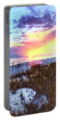 Portable Battery Charger featuring the photograph Beach Sunset by Susan Leggett
