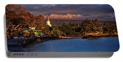 Beach Town Of Kailua-kona On The Big Island Of Hawaii Portable Battery Charger