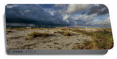 Beach View Rain Clouds  Portable Battery Charger