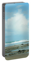 Portable Battery Charger featuring the photograph Beach Walk by Mary Jo Allen