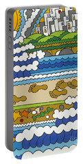 Beach Walk Foot Prints Portable Battery Charger