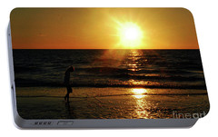 Portable Battery Charger featuring the photograph Beach Walking by Gary Wonning