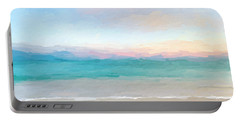 Beach Watercolor Sunrise Portable Battery Charger