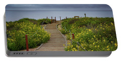 Beach Wildflowers Portable Battery Charger