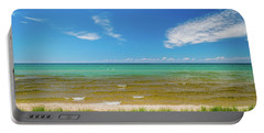 Beach With Blue Skies And Cloud Portable Battery Charger