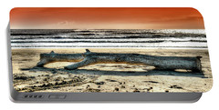 Beach With Wood Trunk - Spiaggia Con Tronco IIi Portable Battery Charger