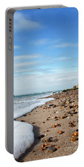 Beachcombing Portable Battery Charger by Terri Waters