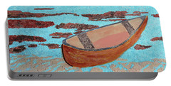Portable Battery Charger featuring the painting Beached At Washington Oaks Park by Deborah Boyd