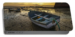 Beached Boat On La Caleta Cadiz Spain Portable Battery Charger