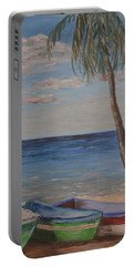 Beached Portable Battery Charger by Debbie Baker
