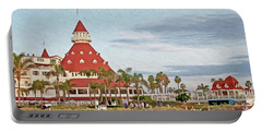 Beachfront Hotel Del Coronado Portable Battery Charger