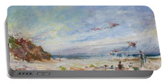Beachy Day - Impressionist Painting - Original Contemporary Portable Battery Charger
