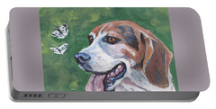 Beagle And Butterflies Portable Battery Charger
