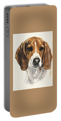 Beagle Portable Battery Charger by Barbara Keith