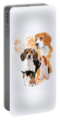 Beagle W/ghost Portable Battery Charger by Barbara Keith