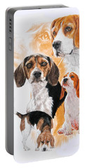Beagle Hound Medley Portable Battery Charger