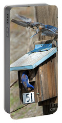Portable Battery Charger featuring the photograph Beak To Beak by Mike Dawson