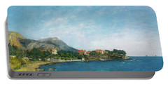 Portable Battery Charger featuring the painting Bealieu - The Bay Of Fourmis by Eugene Boudin