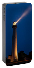 Portable Battery Charger featuring the photograph Beam Of Light At Cape May by Nick Zelinsky
