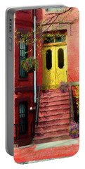 Beantown Brownstone With Yellow Doors Portable Battery Charger