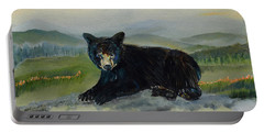 Bear Alone On Blue Ridge Mountain Portable Battery Charger