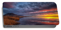Bear Butte Lake Sunrise Portable Battery Charger