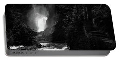 Bear Creek Falls In Spring Portable Battery Charger