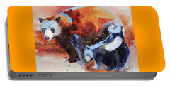 Bear Family Outing Portable Battery Charger