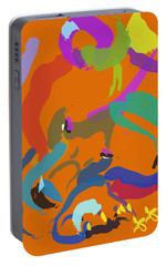 Portable Battery Charger featuring the painting Bear  by Go Van Kampen
