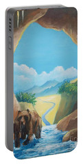 Bear Going Home Portable Battery Charger