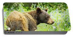 Bear In Flowers Portable Battery Charger