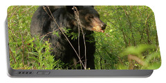 Portable Battery Charger featuring the photograph Bear In The Grass by Coby Cooper