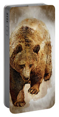 Bear Market Portable Battery Charger by Daniel Hagerman