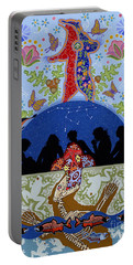 Portable Battery Charger featuring the painting Bear Medicine by Chholing Taha