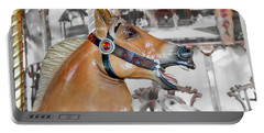 Portable Battery Charger featuring the photograph Bear Mountain Carousel - Fjord Horse by Kristia Adams