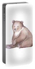 Bear Watercolor Portable Battery Charger