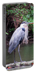 Bearded Blue Heron Portable Battery Charger