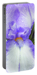Bearded Iris Dotted Swiss Portable Battery Charger
