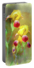 Bearded Iris Pair Portable Battery Charger