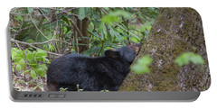 Portable Battery Charger featuring the photograph Bearly Awake by Chris Scroggins