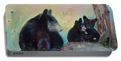 Bears Frolicking In Spring Portable Battery Charger by Jan Dappen