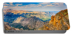 Portable Battery Charger featuring the photograph Beartooth Highway Scenic View by John M Bailey
