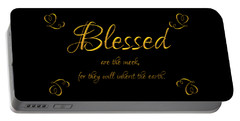 Beatitudes Blessed Are The Meek For They Will Inherit The Earth Portable Battery Charger