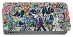 Beatles Tapestry Portable Battery Charger