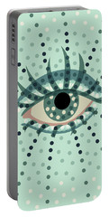 Beautiful Abstract Dotted Blue Eye Portable Battery Charger